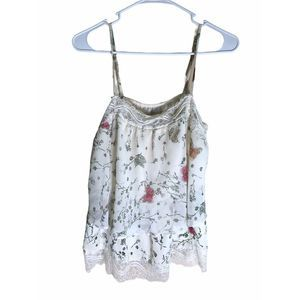 LC Lauren Conrad Butterfly and Lace Top  S